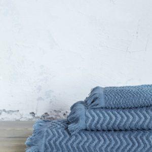 NIMA HOME ΠΕΤΣΕΤΑ ΧΕΡΙΩΝ BLUE CONTOUR 100% COTTON -K37670