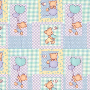 DIMcol ΣΕΝΤΟΝΑΚΙ ΛΙΚΝΟΥ ΒΡΕΦ Flannel Cotton 100% 80Χ110 Baloon 77 Sky blue