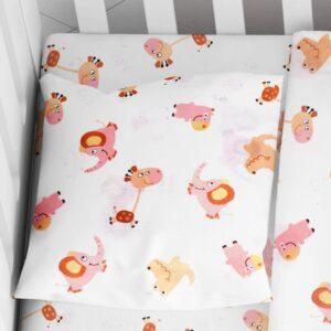 DIMcol ΜΑΞΙΛΑΡΟΘΗΚΗ ΕΜΠΡΙΜΕ ΒΡΕΦ Cotton 100% 35Χ45 Elephant 72 Pink