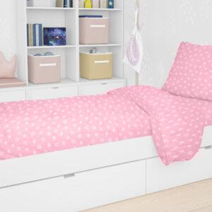 DIMcol ΠΑΠΛΩΜΑ ΕΜΠΡΙΜΕ ΒΡΕΦ Cotton 100% 120Χ160 PRINCESS 47 Pink