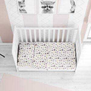DIMcol ΚΑΤΩΣΕΝΤΟΝΟ ΜΕ ΛΑΣΤΙΧΟ ΒΡΕΦ Flannel Cotton 100% 0,70X1,40X0,15 Baby 01