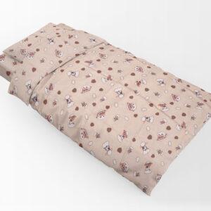 DIMcol ΠΑΠΛΩΜΑΤΟΘΗΚΗ ΕΜΠΡΙΜΕ ΠΑΙΔ Flannel Cotton 100% 160Χ240 Προβατάκι 07 Beige